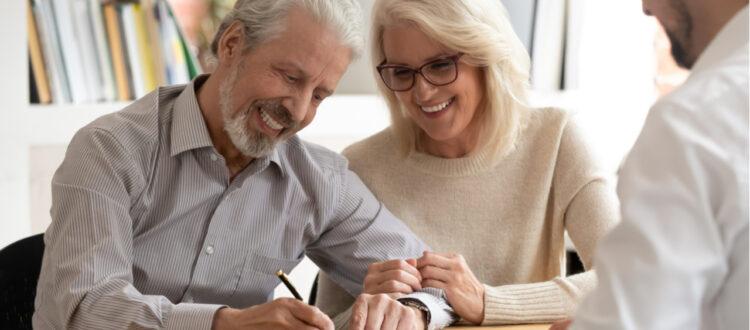 couple talking to adviser