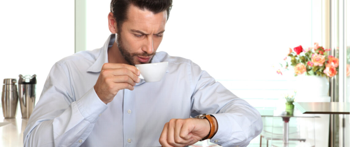 Person looking at their watch