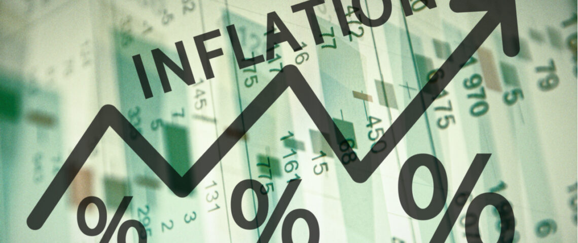 graph showing rising inflation arrow
